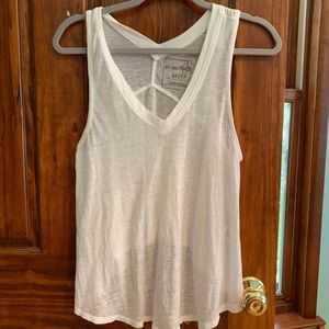 Free People We The Free White Tank Top Size XS